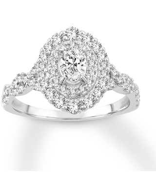Jared Diamond Engagement Ring 1 ct tw Oval-cut 14K White Gold