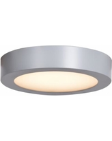 "Ulko Exterior 7"" Wide Silver LED Outdoor Ceiling Light"