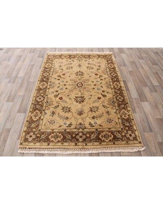 Canora Grey One-of-a-Kind Islais Traditional Hand-Knotted 4' x 6' Wool Beige/Brown Area Rug W001216111