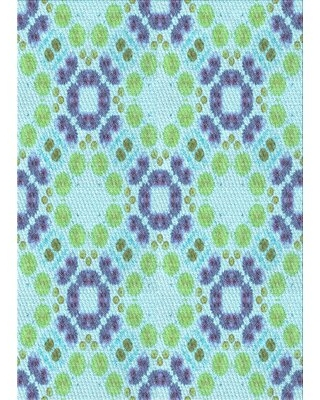 Find The Best Deals On Lattin Geometric Wool Light Blue Area Rug East Urban Home Rug Size Rectangle 3 X 5