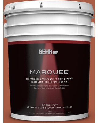 BEHR MARQUEE 5 gal. #M190-7 Colorful Leaves Flat Exterior Paint and Primer in One