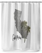 "Kavka California 72"" Shower Curtain SCT-SPLSC-70X72-TEL1400"
