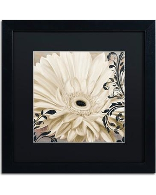 """Trademark Art 'Winter White I' by Color Bakery Framed Painting Print ALI4297-B1 Mat Color: Black Size: 16"""" H x 16"""" W x 0.5"""" D"""