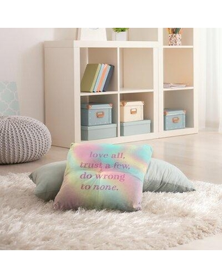 """East Urban Home Do No Wrong Throw Pillow EBJZ8438 Size: 30"""" H x 30"""" W Color: Pastel Rainbow"""