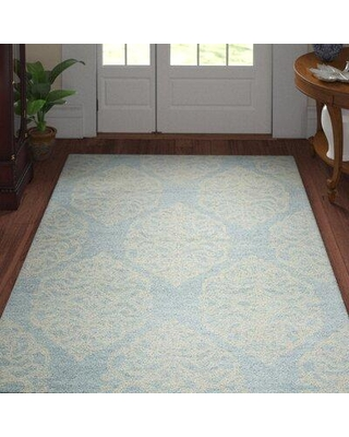Three Posts™ Teen Nordmeyer Hand-Tufted Blue Area Rug X112772523 Rug Size: Rectangle 8' x 10'