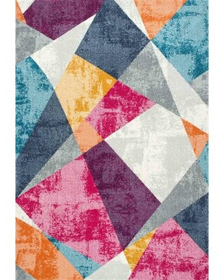 Dunmore Pink/Gray Area Rug Wrought Studio™ Rug Size: Rectangle 4' x 6'