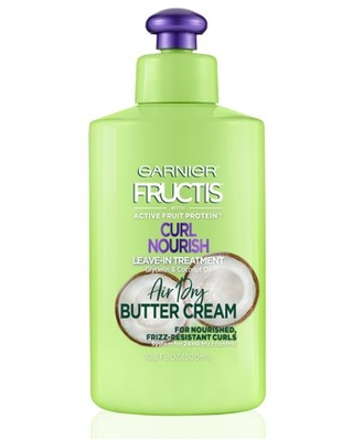 Garnier Fructis Curl Nourish Leave-in Conditioner with Coconut Oil, 10.2 fl oz
