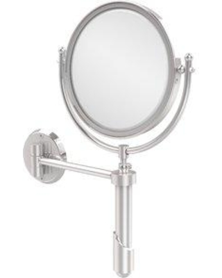 """Allied Brass 8"""" Extendable Wall Mirror with Magnification SHM-8/ Magnification: 3x Finish: Polished Chrome"""