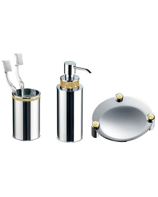 Check Out Some Sweet Savings On Zenor Table 3 Piece Bathroom Accessory Set Mercer41 Finish Chrome Gold