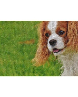 East Urban Home Dog Portrait 4 Green Area Rug X112907020 Rug Size: Rectangle 2' x 4'