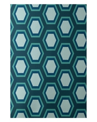 Simply Daisy 3' x 5' Hex Appeal Geometric Print Indoor Rug