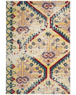 """Bloomsbury Market Hampstead Yellow/Blue Area Rug BLMT2392 Rug Size: Rectangle 5'3"""" x 7'6"""""""