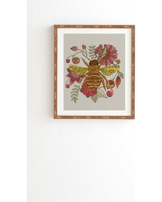 """East Urban Home 'Bee Awesome' Framed Graphic Art Print on Wood ERNI6111 Size: 22.4"""" H x 19"""" W x 1.5"""" D Format: Brown Framed"""