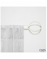 Chaps Home Cage, Window Curtain Rod and Finial Set - White