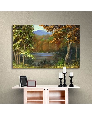 "Alcott Hill 'Mountain Pond' Painting Print on Wrapped Canvas ACOT6992 Size: 8"" H x 12"" W x 2"" D"