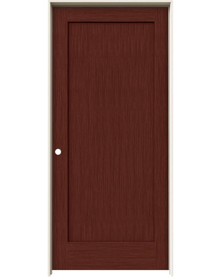 JELD-WEN 36 in. x 80 in. Madison Black Cherry Stain Right-Hand Solid Core Molded Composite MDF Single Prehung Interior Door