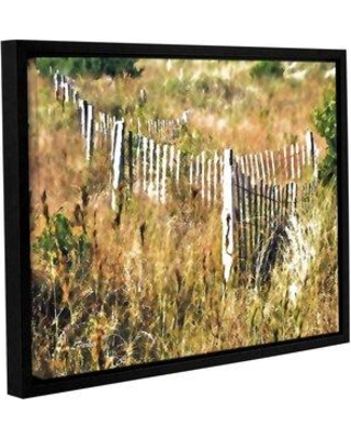 "Ebern Designs 'White Picket Fence H' Graphic Art Print EBND2034 Size: 8"" H x 10"" W x 2"" D Format: Floater Frame Canvas"