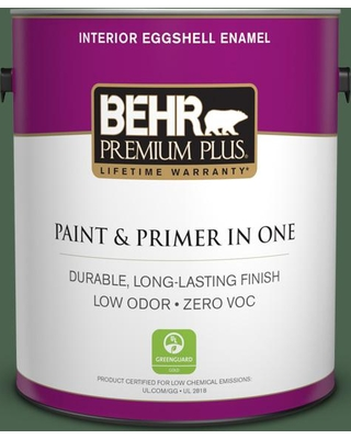 Shop For Behr Premium Plus 1 Gal S410 7 Equestrian Green Eggshell Enamel Low Odor Interior Paint And Primer In One