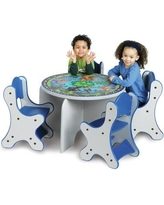 Playscapes Animal Families Kids 5 Piece Table and Chair Set 25-RST-006