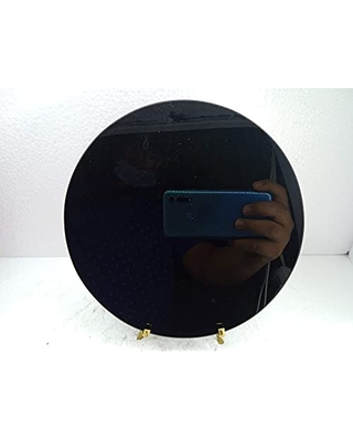 Obsidian Mirror 25cm (9,75in) With support Included crafts tezcatipocatl aztec god smoke