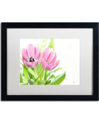 "Trademark Art ""Two Tulips"" by Lois Bryan Framed Photographic Print LBR0293-B1114MF / LBR0293-B1620MF Size: 16"" H x 20"" W x 0.5"" D"