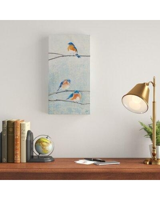 """Charlton Home 'Hanging Out II' Acrylic Painting Print on Wrapped Canvas W001159383 Size: 47"""" H x 24"""" W x 2"""" D"""