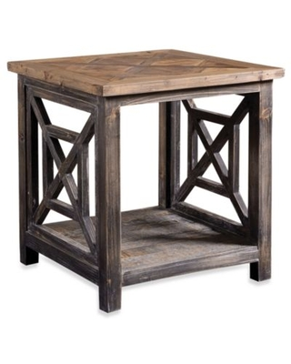Uttermost Spiro Reclaimed Wood End Table Black/natural