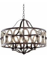 """Belmont Florence Gold 28 1/2""""W Wrought Iron Chandelier"""