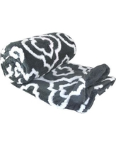 BOON Throw & Blanket Jacquard Sherpa Throw Blanket BNFTHR5060JS Color: Gray