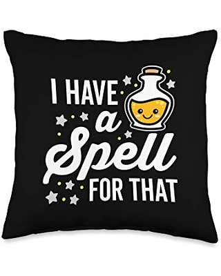 Detour Shirts I Have a Spell for That Cute Kawaii Halloween Throw Pillow, 16x16, Multicolor