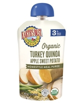 (6 Pouches) Earth's Best Organic Stage 3 Baby Food, Turkey Quinoa Apple Sweet Potato, 3.5 oz. Pouch