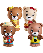 Timber Tots Pawpaw Family set of 4 - Dolls & Dollhouses for Ages 2 to 4 - Fat Brain Toys