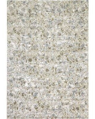 "Ophelia & Co. Karlee Beige/Blue Area Rug W001578229 Rug Size: Rectangle 3'6"" x 5'6"""