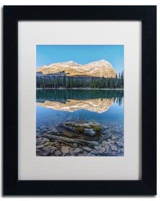 "Trademark Art ""Calm O'Hara Lake Sunrise"" by Pierre Leclerc Framed Photographic Print PL0306-B1114MF / PL0306-B1620MF Size: 20"" H x 16"" W x 0.5"" D"