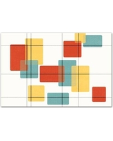 George Oliver 'Mid Century Modern Rectangles' Graphic Art Print on Wrapped Canvas GOLV1136