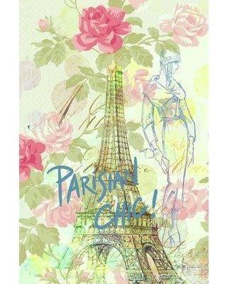 """East Urban Home 'Parisian Chic' Painting Print on Wrapped Canvas ESHM1179 Size: 40"""" H x 26"""" W x 0.75"""" D"""