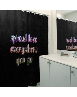 East Urban Home Spread Love Quote Chalkboard Style Single Shower Curtain EBKM6414 Color: Pink