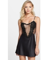 Women's Flora Nikrooz Showstopper Chemise, Size Small - Black
