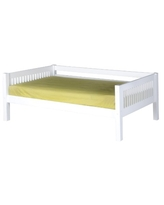 Camaflexi Mission Style Solid Wood Day Bed, Twin, White