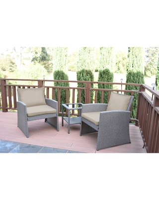 Shop Deals For Mirabelle 3 Pieces Bistro Set With 2 Inch Tan Cushion 9 X 12 Tan