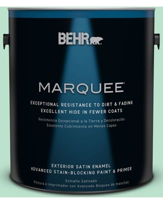BEHR MARQUEE 1 gal. #P410-2 Spearmints Satin Enamel Exterior Paint and Primer in One