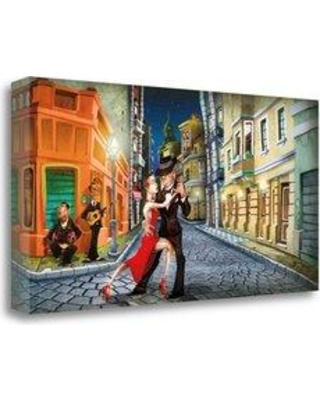 """Tangletown Fine Art 'Tango' Graphic Art Print on Wrapped Canvas CA316167-2915c Size: 24"""" H x 48"""" W"""