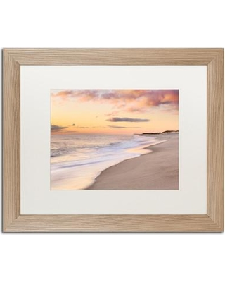 "Trademark Art 'Tide Line' by Michael Blanchette Framed Photographic Print ALI3963-T1 Matte Color: White Size: 16"" H x 20"" W x 0.5"" D"