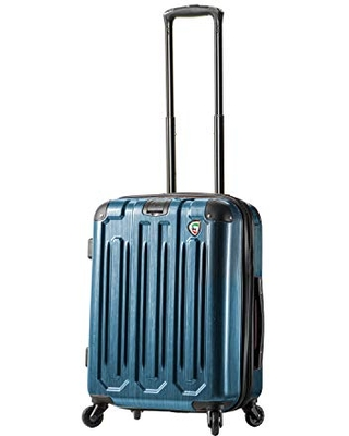 Mia Toro Italy Lustro Hardside Spinner Carry-on, Blue, One Size