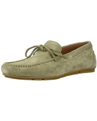 Aquatalia Men's Brian Suede Driving Style Loafer, sage, 7.5 M US
