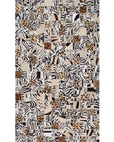 Modern Rugs Patchwork Animal Print Multi-colored Area Rug patchw5-84 Rug Size: Square 4'