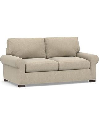 Turner Roll Arm Upholstered Deluxe Sleeper Sofa, Polyester Wrapped Cushions, Sunbrella(R) Performance Chenille Cloud