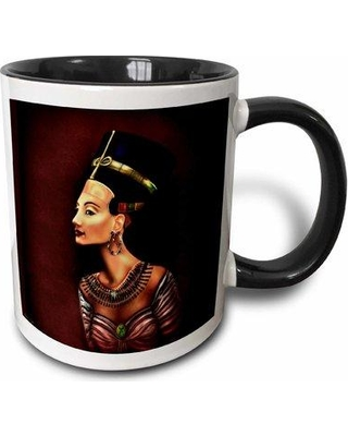 East Urban Home Portrait of Nefertiti Inspired Coffee Mug W000134973