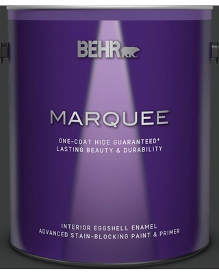 BEHR MARQUEE 1 gal. #750F-7 Deep Space Eggshell Enamel Interior Paint and Primer in One
