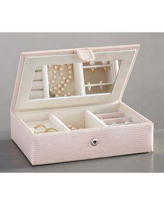 Find the Best Deals on Mckenna Leather Travel Jewelry Box Blush